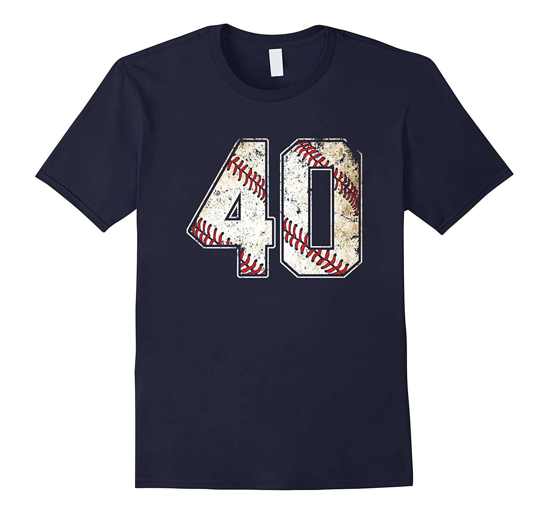 #40 Baseball Jersey Number 40 Retro Vintage T-Shirt-FL
