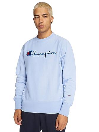 8cad47f2147 Champion Script Logo Reverse Weave Sweatshirt  Amazon.co.uk  Clothing