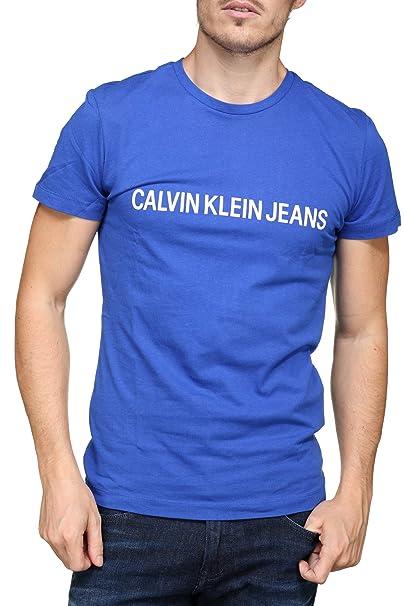 Camiseta CalvinKlein Jeans Hombre institut Azul: Amazon.es: Ropa y accesorios