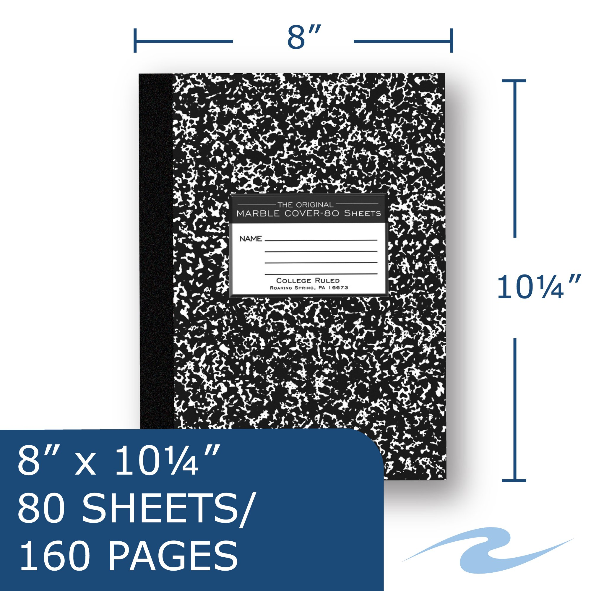 Roaring Spring Premium Composition Book, 10 1/4'' x 7 7/8'', College Ruled, 80 sheets by Roaring Spring (Image #2)