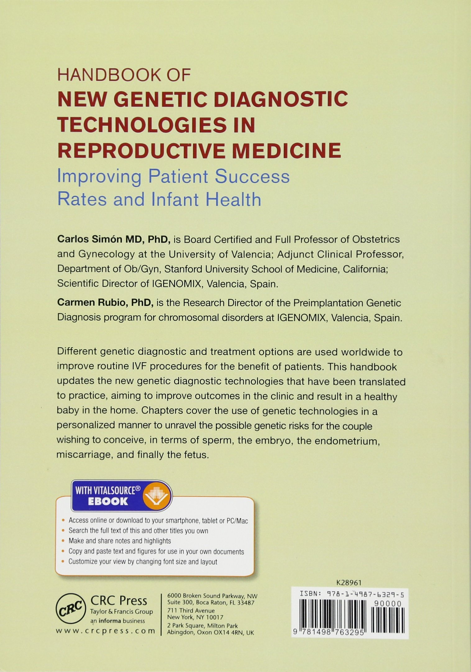 Buy Handbook of New Genetic Diagnostic Technologies in