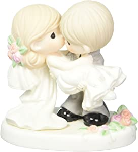 Precious Moments 153008On the Threshold of A Lifetime of Happiness, Bisque Porcelain Figurine