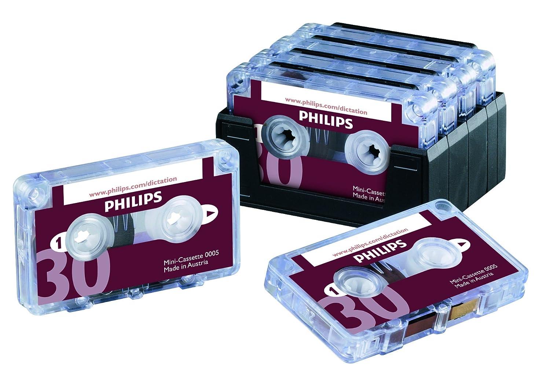 Philips - Paquete de cintas de cassette (30 min, 10 unidades): Amazon.es: Informática