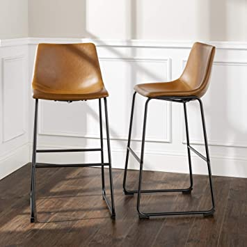 Excellent We Furniture Barstool 30 Whiskey Brown Ibusinesslaw Wood Chair Design Ideas Ibusinesslaworg