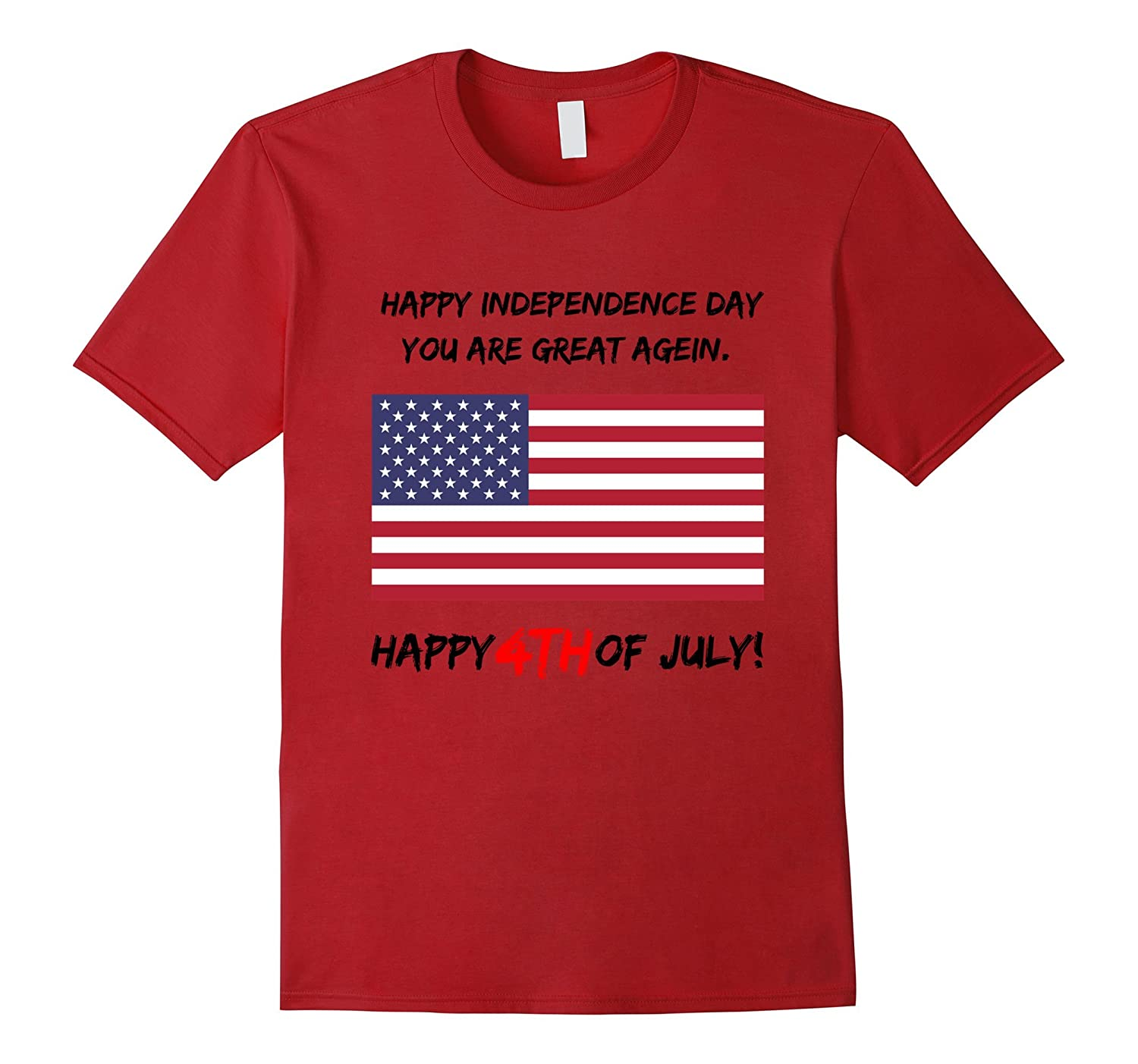 Happy 4th July T-Shirt US Flag and Stars-Loveshirt