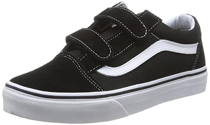 Vans OLD SKOOL V Unisex-Kinder Sneakers Schwarz (Black/True Whit 6bt)