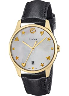 1f48f46c01c Gucci G-timeless Mother of Pearl Dial Mens Leather Watch YA1264044