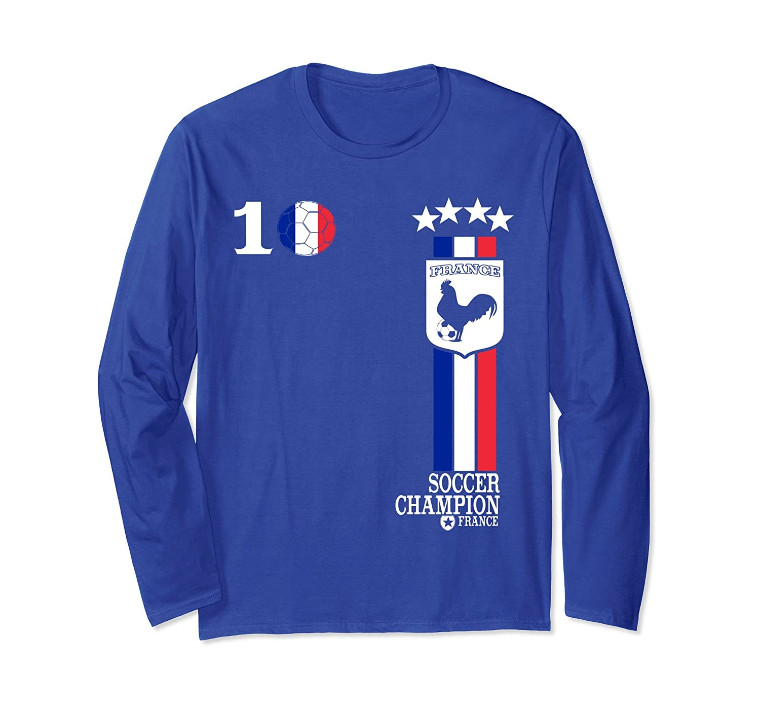 new concept cea60 dc78a France Soccer Jersey Football French Flag 2018 T-Shirt- TPT