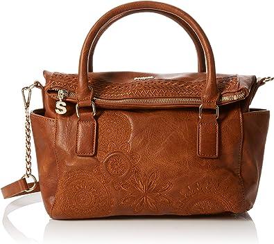 Desigual Borse Pelle.Desigual Bols Dark Amber Loverty Borsa Donna Marrone Camel 14x24x33 Cm B X H T Amazon It Scarpe E Borse