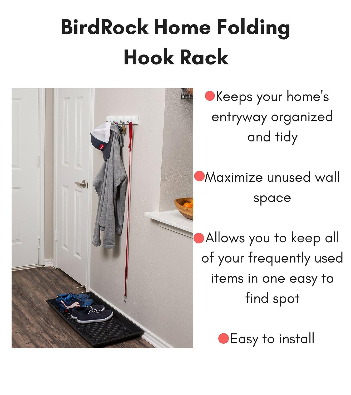 Amazon.com: Perchero con ganchos plegables BirdRock Home ...