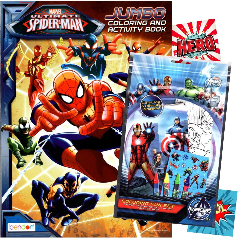 - Amazon.com: Spiderman Coloring Book With Fun Set (Coloring Book