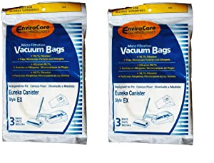 EnviroCare Replacement Vacuum Bags for Eureka EX Excalibur Canisters 6 bags