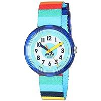 Kids' Mystical Woods Quartz Polyester Strap, Blue, 14 Casual Watch (Model: ZFPNP056)