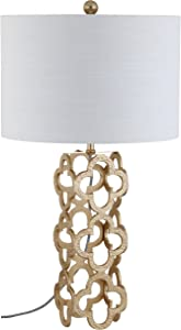 """JONATHAN Y JYL1090A Oliver 26.5"""" Metal Quatrefoil LED Table Lamp Contemporary,Glam for Bedroom, Living Room, Office, College Dorm, Coffee Table, Bookcase, Gold"""