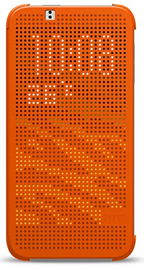 san francisco c97f9 2c8fb HTC Dot View Clip-On Folio Flip Case Cover for HTC Desire 510 - Orange