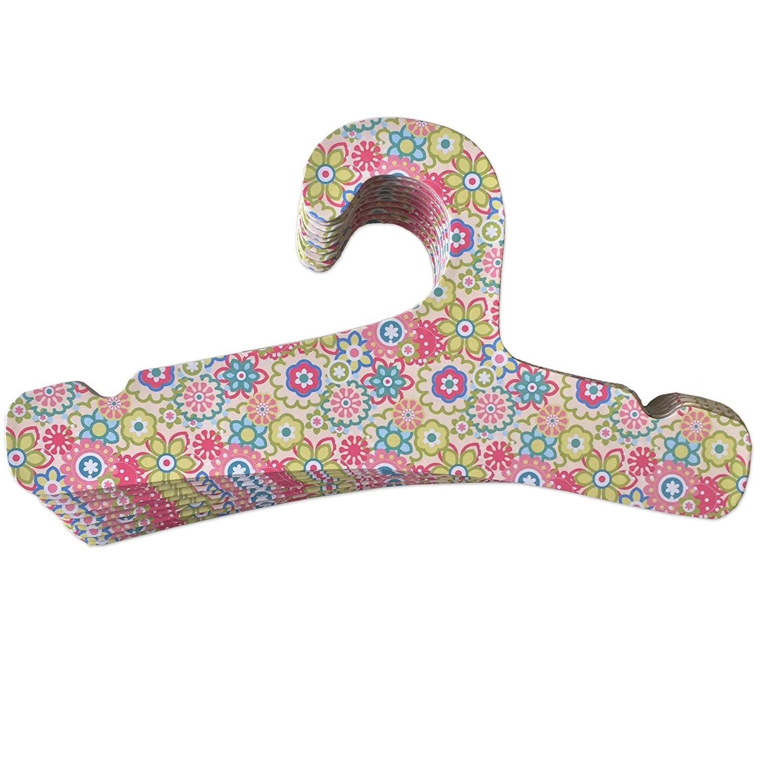 Little Dundi Eco-Friendly Closet Hangers for Toddler/Kid, Set of 10, Flowers LDTH-10F