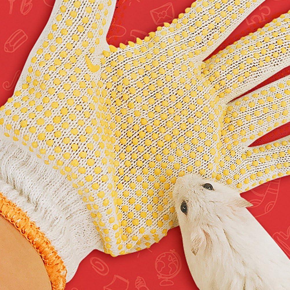 Colore Casuale POPETPOP Due Paia di Guanti di Protezione degli Animali Graffi Anti-morso Guanti da Giardinaggio 23x14x1,2 cm