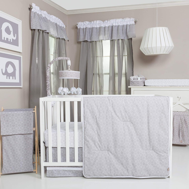 トレンドラボグレーとホワイト円ベビー寝具コレクション 3-pc. Crib Set グレー 3-pc. Crib Set グレー B073NBRQ16