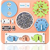 BrainUpToys Busy Board for Toddler - Sensory Board - Busy Board for Kids - Activity Board for Toddlers - Locks and latches Activity Board - Baby Activity Board - Boy and Girl 12-18 Month
