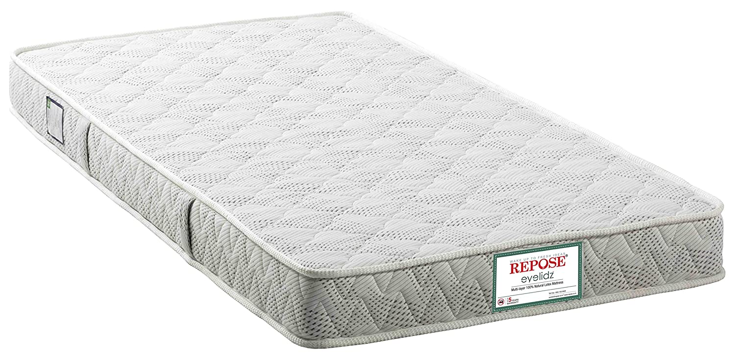 Repose eyelidz 5-inch Single Size Latex Mattress (Grey and