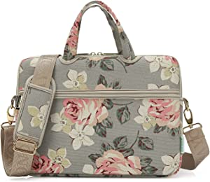 KAYOND White Rose Patten water resistant Laptop Shoulder Messenger Bag Case Sleeve for 12 Inch 13 Inch Laptop,Laptop Briefcase