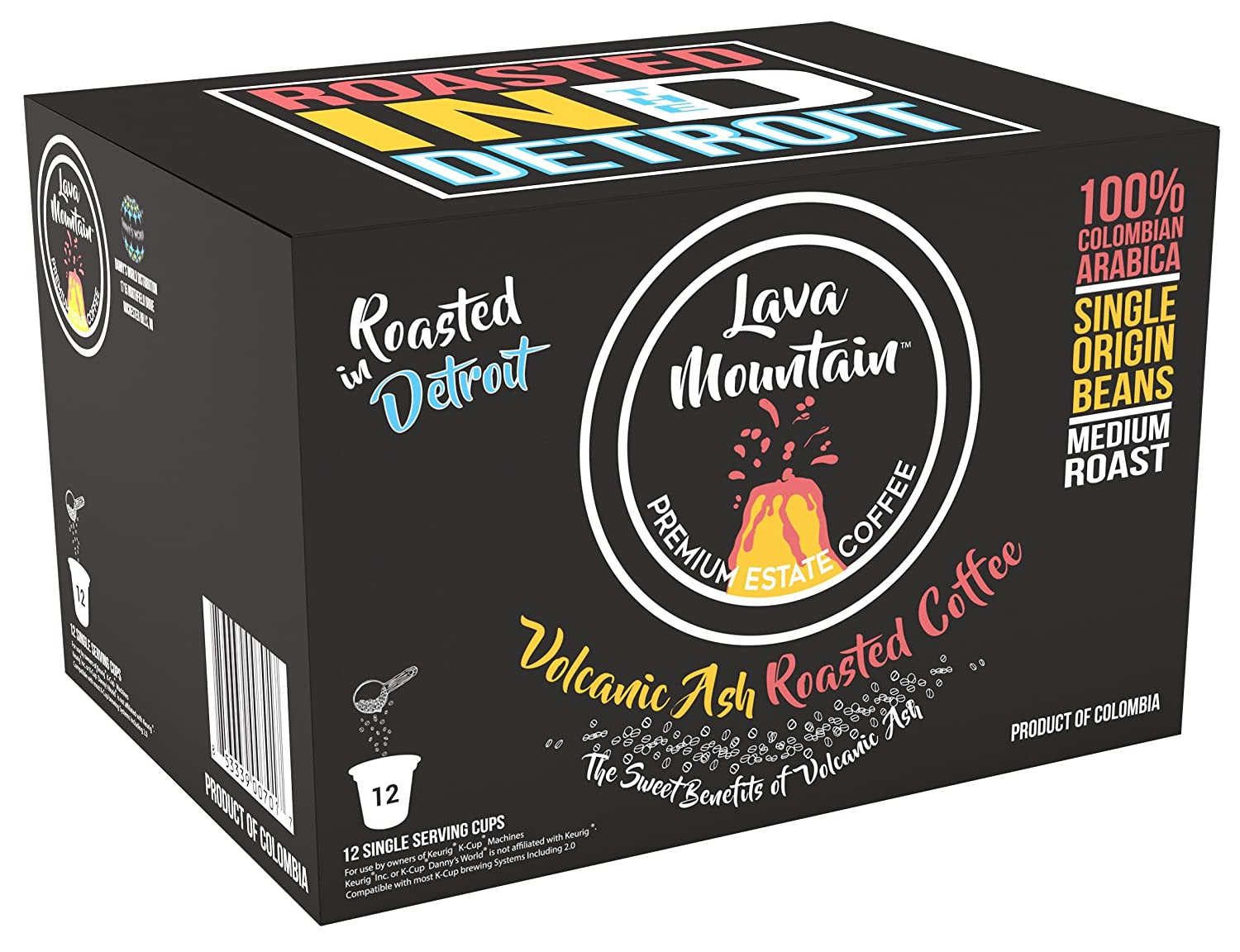 Lava Mountain Single Origin Colombia Single Serve K-Cups, Medium Roast (12pk) Image