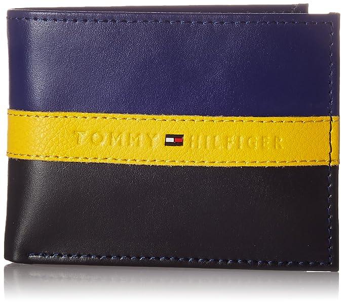 f339449fb55 Tommy Hilfiger 915673-cartera Hombre Negro Azul Marino Negro Talla única   Amazon.es  Ropa y accesorios