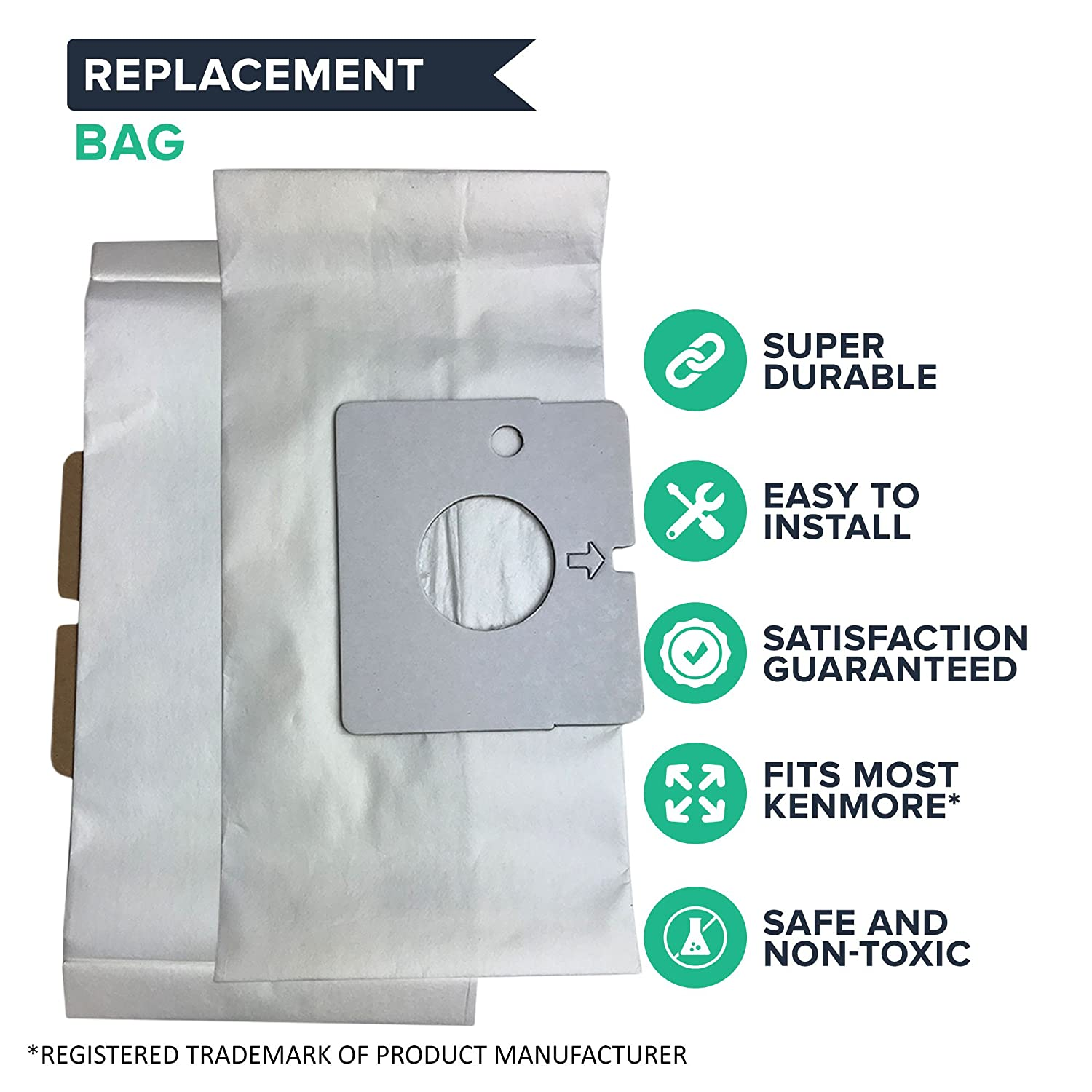 Think Crucial 24 Replacement for Kenmore Magic Blue M Paper Bags Compatible With Part # 20-51195 ABCD