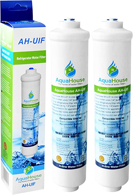 2x AH-BUC Compatible Water Filters For Haier 0060218743 Rangemaster DXD Fridge