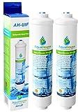 2x AquaHouse AH-UIF Universal Fridge Water Filter fits Samsung LG Daewoo Rangemaster Beko Haier etc Fridge Freezer