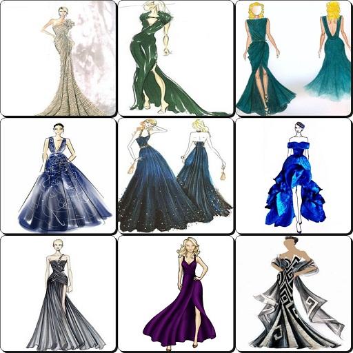 Amazon Com Sketches Design Evening Dresses 2017