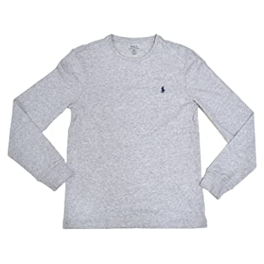 Amazon.com: Polo Ralph Lauren Mens Custom-Fit Long Sleeve Crew Neck T-Shirt:  Clothing