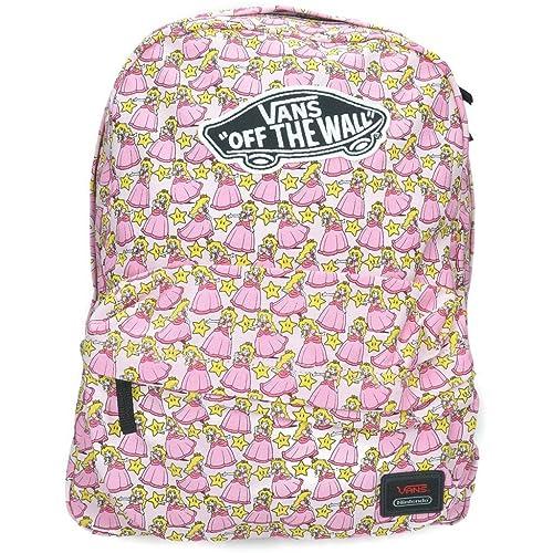 Vans - Nintendo, Bolso de Mochila Mujer, Rosa (Princess Peach), 43x32x12