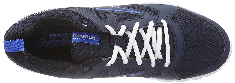 Reebok Trainfusion 5.0 - Zapatillas de Gimnasia para Hombre, Color Azul (Faux Indigo/Cycle Blue/Black/White), Talla 42.5
