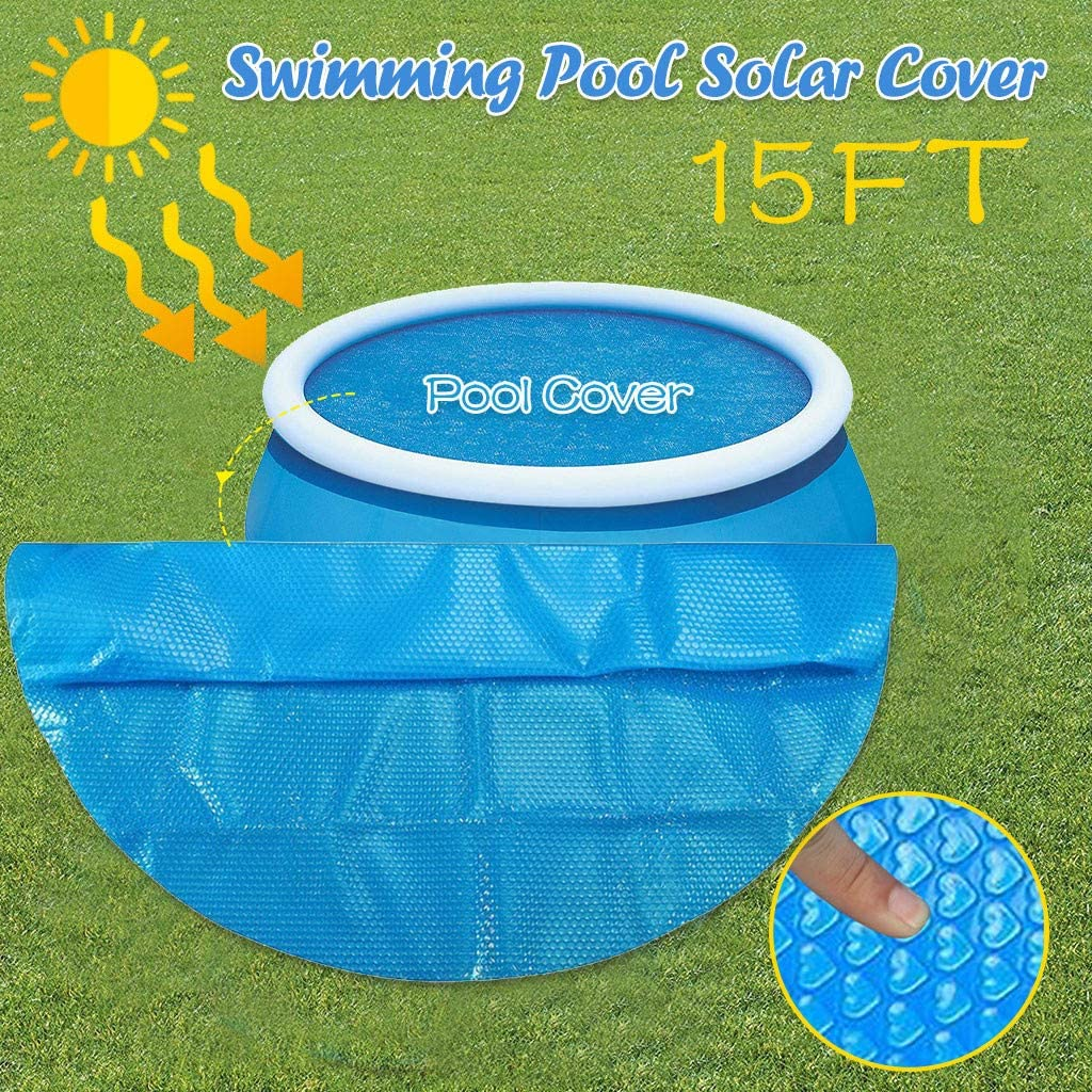 10ft/_300 x 300 cm Endothermic Protector Thermal Blanket Place Bubble-Side Down in Pool 8//10//12//15 ft Foot Above Ground Blue Protection Swimming Pool FINA Round Pool Solar Cover Protector