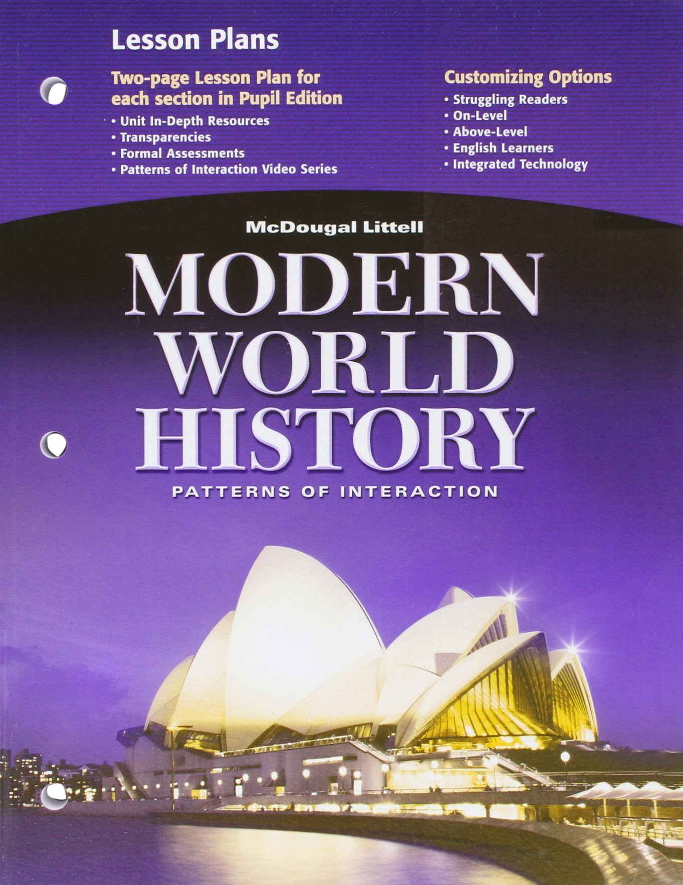 worksheet World History Patterns Of Interaction Worksheets amazon com mcdougal littell world history patterns of interaction lesson plans grades 9 12 modern 97806184098