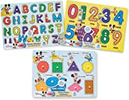 Melissa & Doug Disney Classics Alphabet Wooden Peg Puzzle (Colors and Shapes, numbers, Alphabet, Great Gift for Girls and Bo