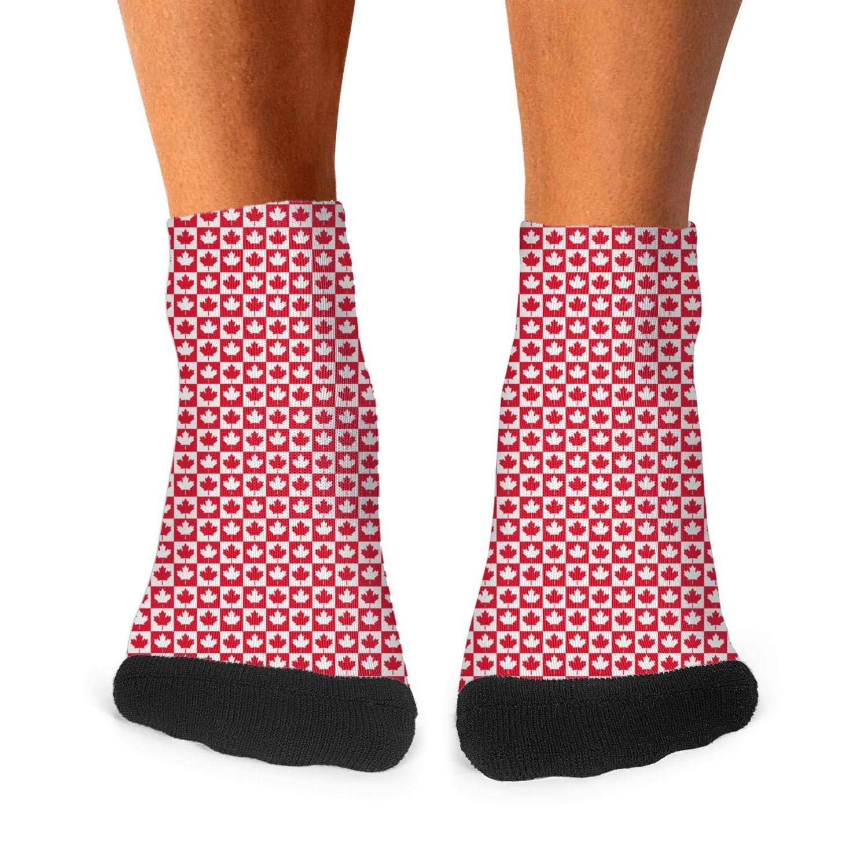 Floowyerion Mens canada flag/_0020/_canada-flag-4 Novelty Sports Socks Crazy Funny Crew Tube Socks