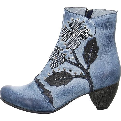 wholesale dealer 2c660 06a69 Simen Damen Stiefeletten Blaue Stiefelette 0411A blau 545288