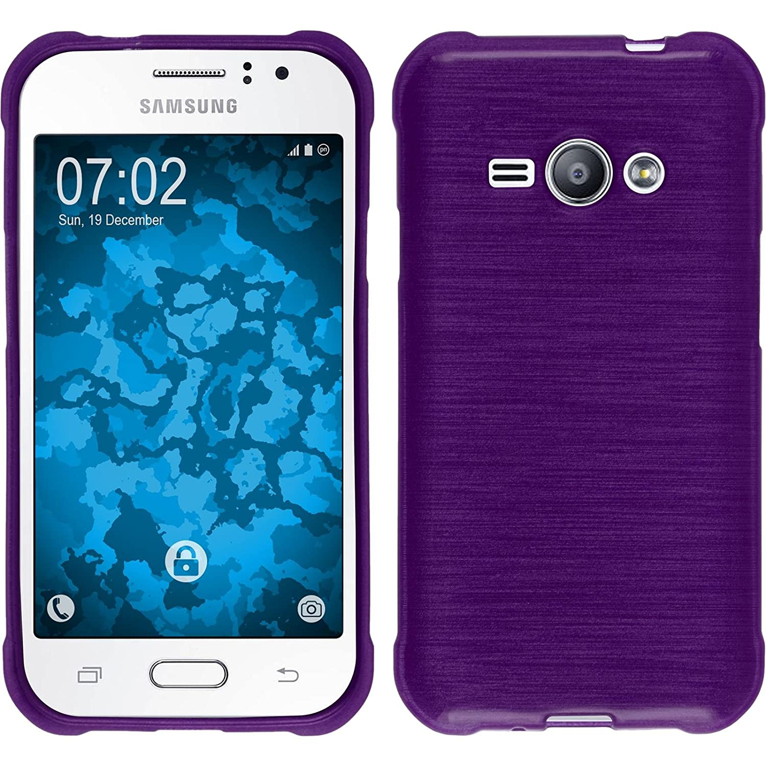 Silicone Case For Samsung Galaxy J1 Ace Brushed Purple Kesing 3 Cover Phonenatic Protective Foils Cell Phones Accessories