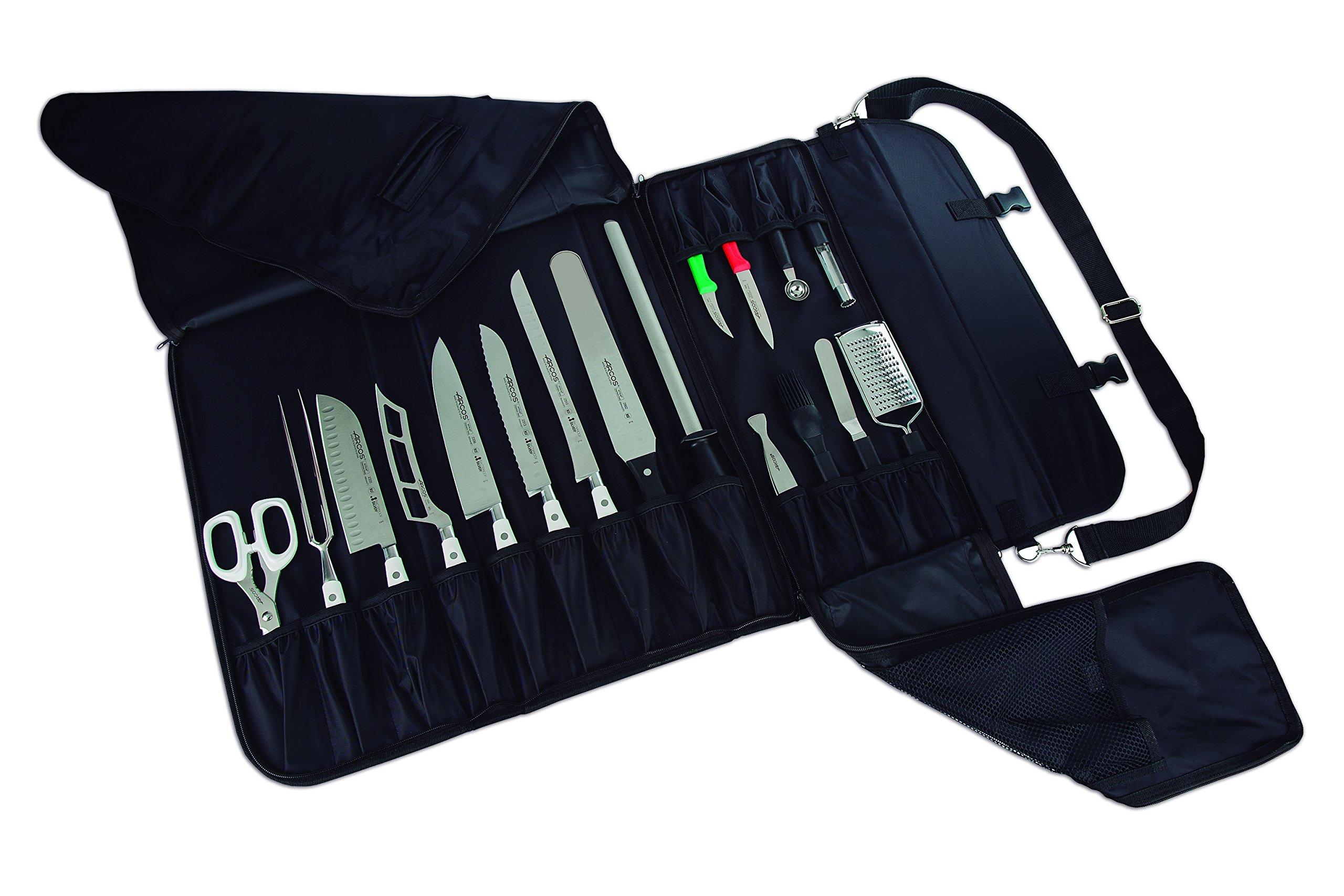 ARCOS 17-Piece Knife Roll Bag