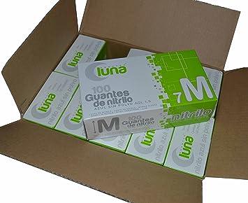 Guantes de Nitrilo T/P, T/M, T/G, Caja de 1000 guantes en 10 pack (GRANDE): Amazon.es: Salud y cuidado personal