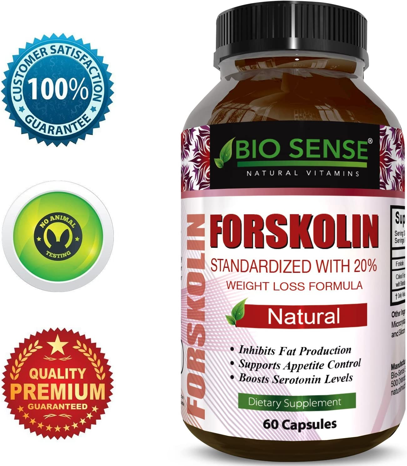 Forskolin Extract Weight Loss Supplement Natural Diet Pills for Men Women Natural Fat Burn Benefits Boost Metabolism Curb Appetite Preserve Lean Body Mass Pure Coleus Forskohlii