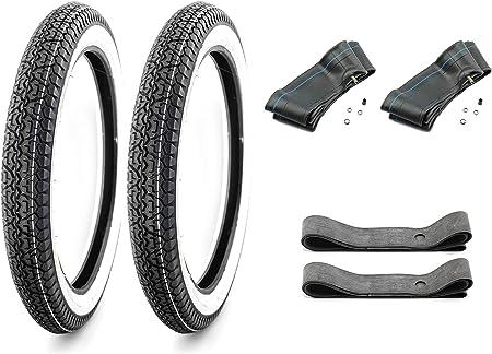 Weisswand Reifen Set Schlauch Felgenband 2 3 4 2 75 X 17 Für Derbi Variant Start 50 Mofa 5 Auto