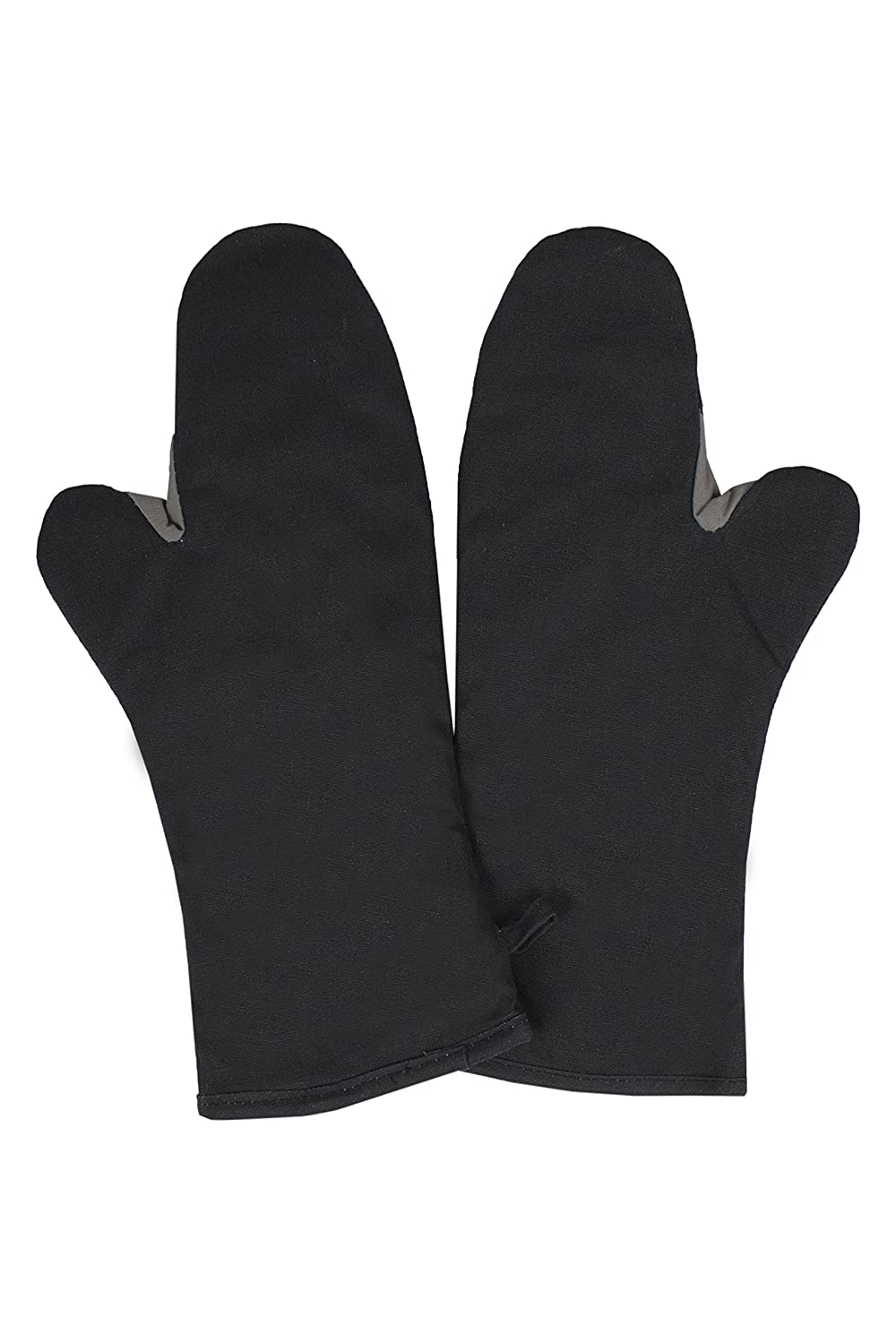 RITZ Food Service CL2PX27BETF-1Professional Grade Flame-Resistant 16-Inch Pyrotex Oven Mitt, Set of 2, Black