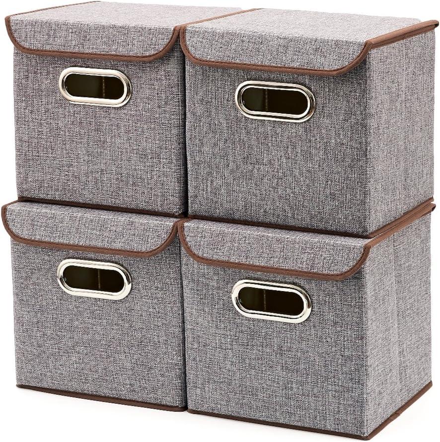 EZOWare Caja de Almacenaje x 4 Unidades, Almacenaje Juguetes, Caja para Ropa