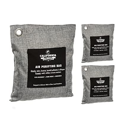 5b4cdb1bd367 Activated Charcoal Odor Absorber Bags (3-Pack), Bamboo Charcoal Room  Deodorizer,
