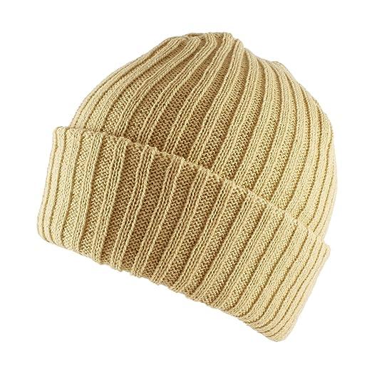 80888c3c15c Morehats Warm Thick Crochet Soft Daily Ski Skater Beanie Hat - Beige ...