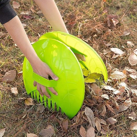 qianele 1 Pair Leaf Rakes Debris Grabbers Garden Yard Scoops Leaf Collector For Picking Up Leaves Grass Clippings Debris Garbage