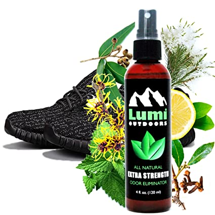 Natural Shoe Deodorizer Spray and Foot Odor Eliminator